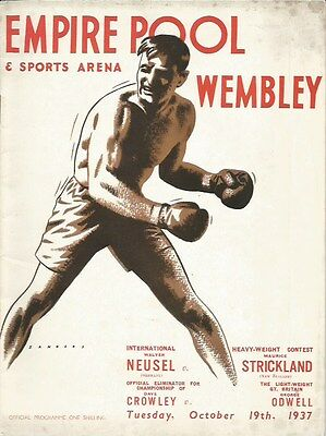 WALTER NEUSEL v MAURICE STRICKLAND 12 ROUNDS HEAVYWEIGHT CONTEST+ CROWLEY/ODWELL