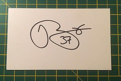 Hand Signed Jose Baxter Ex Everton Index Card & COA