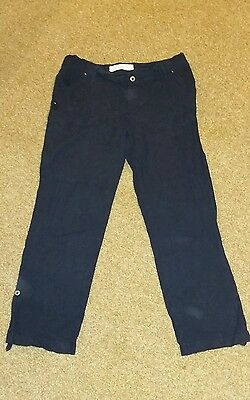 Linen maternity trousers size 14