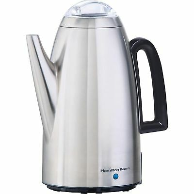 Hamilton Beach 40616 Stainless-Steel 12-Cup Electric Percolator Kettle