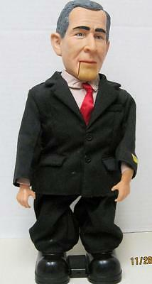 """Singing , Animated George W. Bush  14"""" tall  Sings Yankee Doodle Dandy and Talks"""