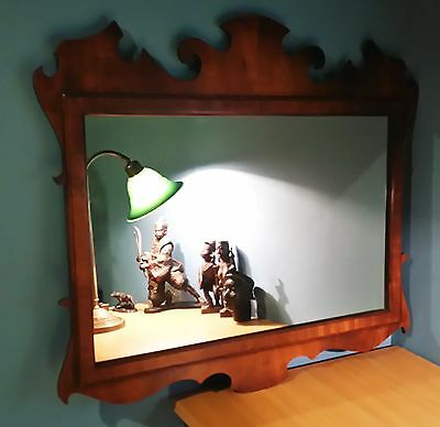 Edwardian Antique George III Style Mahogany Fretwork Mirror