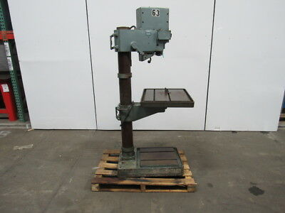 "WILTON 24503 20"" Geared Head Power Feed Drill Press 85-1460 RPM 440V Only 60 Hz"
