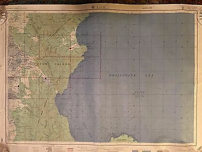Vintage 1954 Laur Map  Published By  Army Map Service