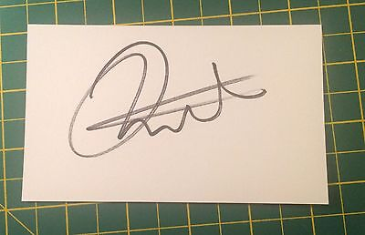 Hand Signed Joleon Lescott Ex Everton Index Card & COA