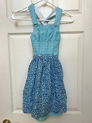 Girls Authentic Austrian Apron Dress Dirndl Sz 122 European + Bonus Size 7-8 US
