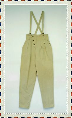 Vintage 80s A. Byer Pants Women's Size 9 Super High Waisted Ankle Pants Overalls