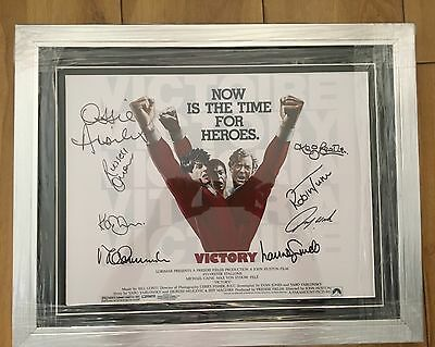 Cast Signed And Framed Escape To Victory Poster