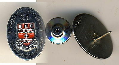25 Year Memorial Univ of Newfoundland Service Pin Sterling Silver