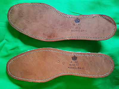 Original WWII A.M. Marked RAF Boot Insoles