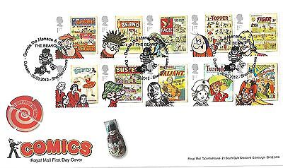 Gb 2012 Comics Royal Mail Cover With Dennis The Menace Pmk