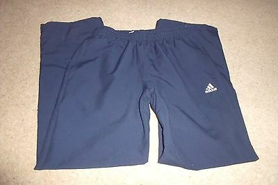 Girls navy tracksuit bottoms Adidas 12 - 13 years