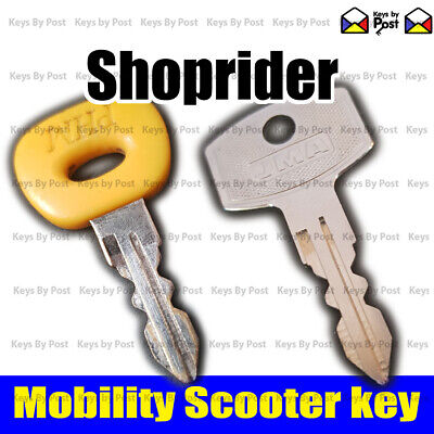 SHOP RIDER Spare Replacement Mobility Scooter Ignition on off Key