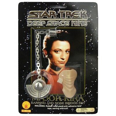 Bajoran Costume Earring and Nose Piece Adult Star Trek Deep Space Nine