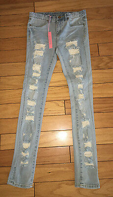 NWOT BLANK NYC Kids-Girls THE SPRAY ON Ripped Skinny Jeans Size 10