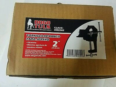 """Rm2002 Small Bench Vise 2"""" For Jewelry Work Hobbyist"""