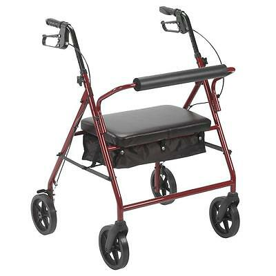 Drive Medical Bariatric Rollator 400lb Folding Walker Adult 4 Wheels 10216RD NEW