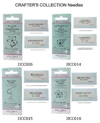 10 John James Crafter's Collection Beading Needles