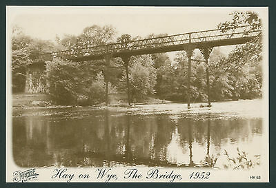 Hay on Wye Bridge in 1952. Francis Frith Repro postcard. Breconshire