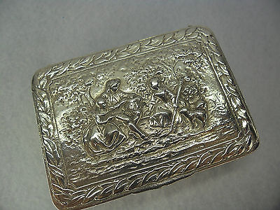 Very Pretty Embossed Sterling Solid Silver Trinket Box