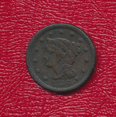 1856 Braided Hair Large Cent **very Nice Circulated Large Cent** Free Shipping!