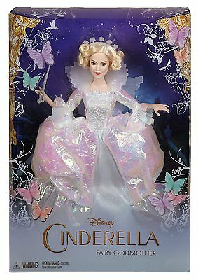 Disney Cinderella Doll - Fairy Godmother Live Action 2015 Barbie Collector NEW