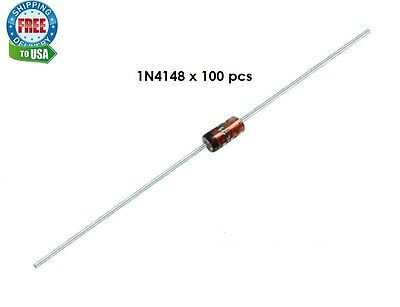100 x 1N4148 Switching Signal Diode - High Quality! USA FREE SHIPPING!