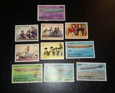 10 x Republic of Congo Stamps