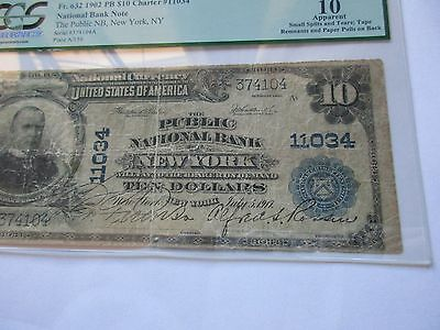 National Currency FR 632 1902 New York $10 PCGS VG-10 apparent
