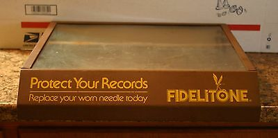 Vintage Fidelitone Record Player Needles Store Counter Display Case