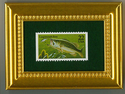 Largemouth Bass A Collectible Glass Framed Postage Masterpiece!