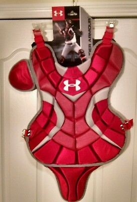 Nwt Under Armour Catcher Baseball Scarlet Red Chest Protector Uacp-Srp Sc