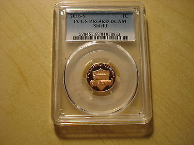 2016-S Proof Lincoln Shield Cent Pcgs Pr69Rd Dcam