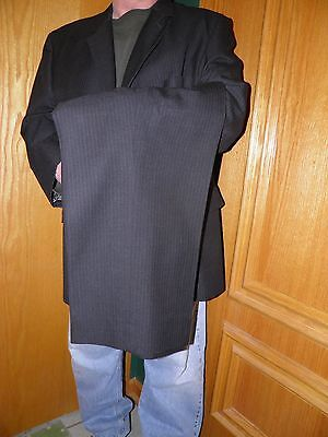 Men's Charcoal Pinstripe Big & Tall Mens Shops Made in USA Suit size 54 R 51 W