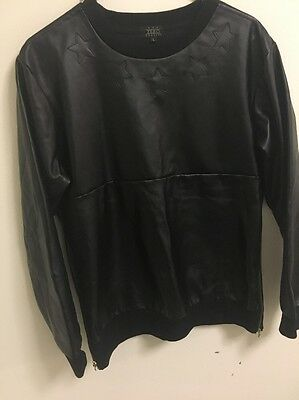 All Black Authentic Leather Shirt