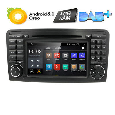 4-Core Android 7.1 Car DVD GPS WiFi 4G For BENZ ML/GL 350/450/550 W/X164