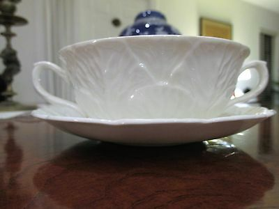 1 Coalport Countryware White Bone China Cream Soup Bowl & Saucer Set