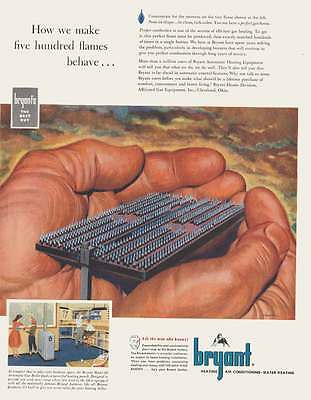 1952 Bryant Heating: Five Hundred Flames Print Ad (19103)