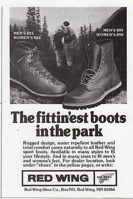 1979 Red Wing Boots: Fittinest Boots in the Park Print Ad (21063)