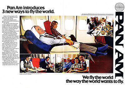1979 Pan Am: 3 New Ways to Fly the World Print Ad (24946)