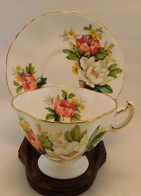 Hammersley Larger Floral design Tea Cup And Saucer
