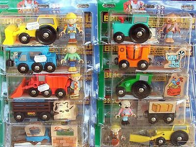 Brio Bob the Builder 10 NIP VEHICLE CHARACTER ACCESSOR SETS complete retired NEW
