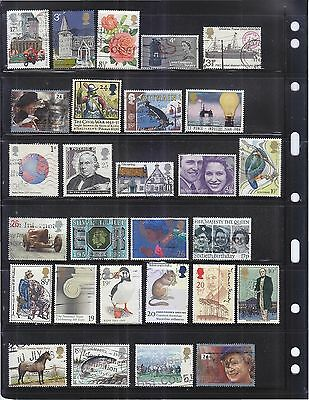 Great Britain Uk Large Used Stamps Collection Mixture With Higher Value Lot 942