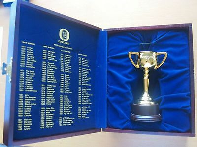 Foster's 1998 Melbourne Cup Limited Edition 698 /1000 Gold Cup In Wooden Box