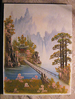 "Oil Painting-Landscape-Canvas Panel by HANZ? 12""x16"" Ready to Frame NICE"