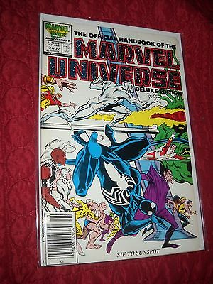 The Official Handbook Of The Marvel Universe Deluxe Ed. # 12 Tough 6.0 Fn 1986