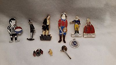 Lot of 9 Vintage Jaycees Jaycettes Pins Pinbacks from the 1970's or early 1980's