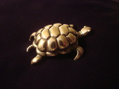 Vintage Rare Tiffany & Co Sterling Silver Turtle Paperweight 1996