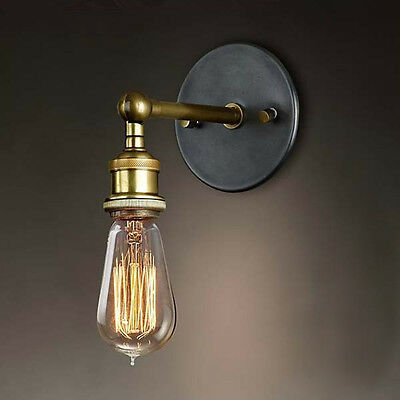 New Vintage Style Industrial Wall Lamp Light Edison Bulb Copper Holder Fixtures