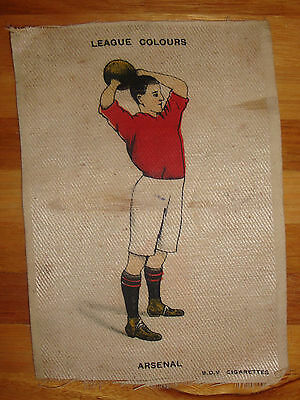 Bvd  Arsenal Cigarette Silks League Colours Circa 1910